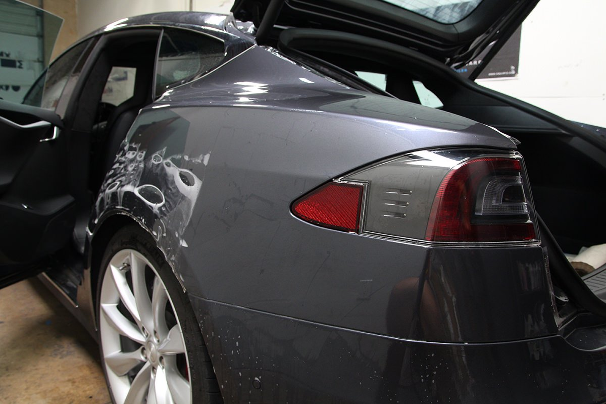Tesla rear quarter