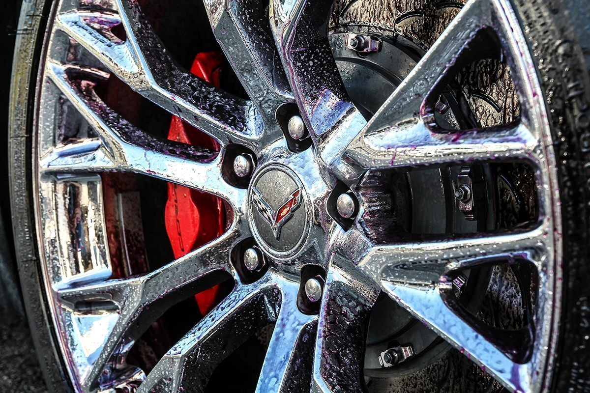 ZO6 wheel cleaning