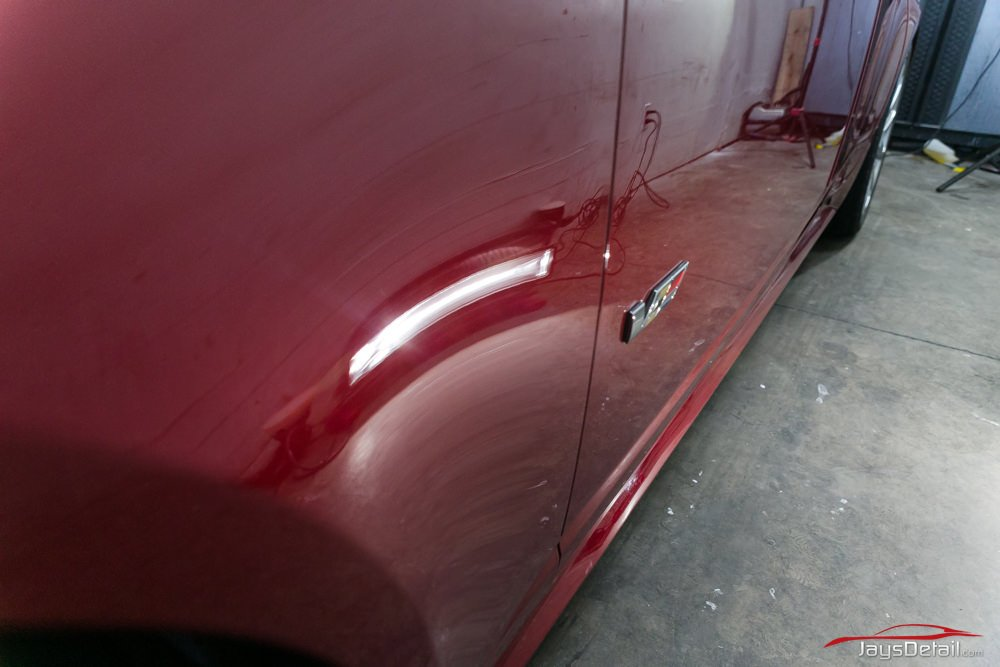 CTSV paint correction fender after