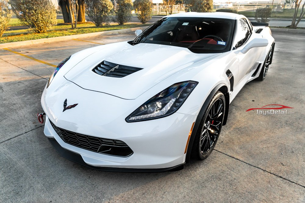 Chevy C7 Zo6 Corvette Gets Clear Bra And Cquartz