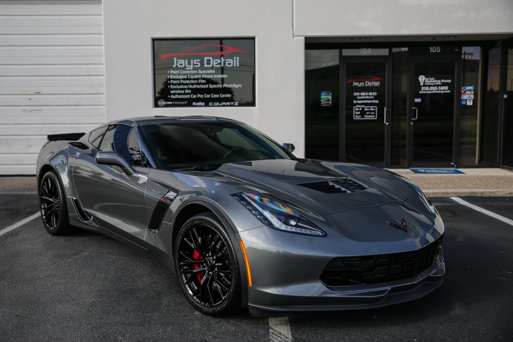 Corvette ZO6 Window Tint Gets Proper Tint Job