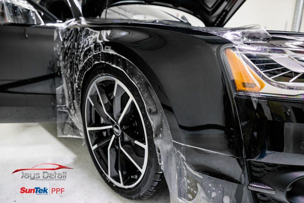 Black Audi S8's Finish Resurrected & Protected with SunTek & Cquartz 12