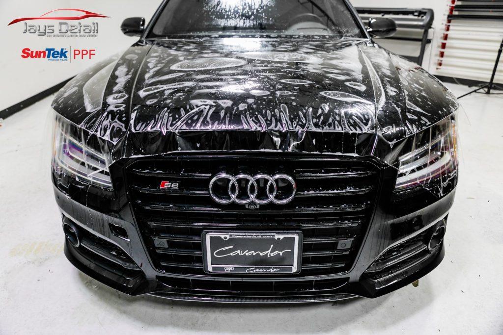 Black Audi S8's Finish Resurrected & Protected with SunTek & Cquartz 11