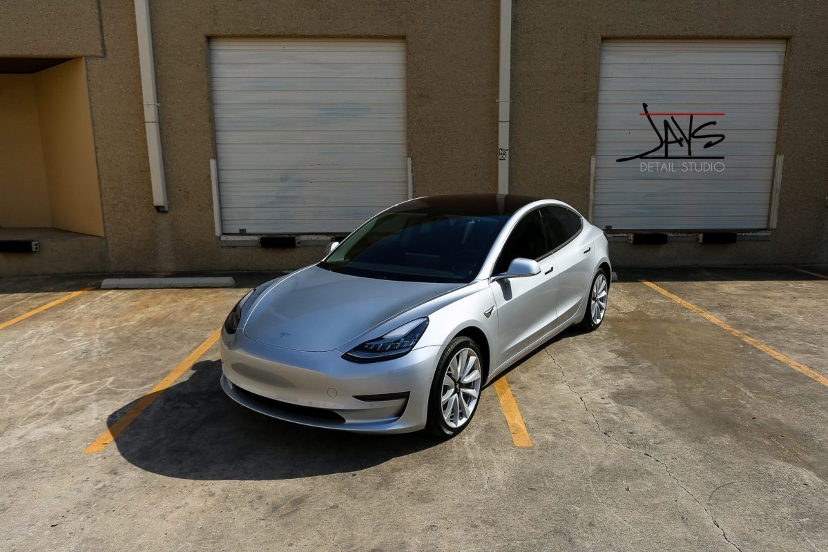 Tesla Model 3 in for Jay's Detail Studio Signature New Car Prep Service - Automotive Car Care Services in San Antonio, Texas