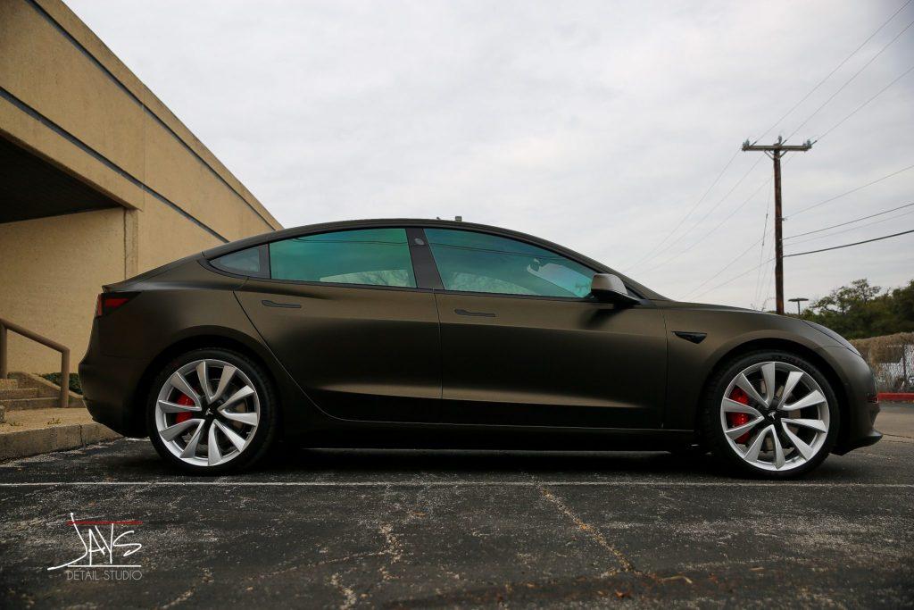 M Crystalline Window Tint and Vehicle Wrap Transform this Tesla Model 3 - Window Tinting, Vehicle Wrap and Ceramic Vehicle Coating in San Antonio and Austin, Texas 10