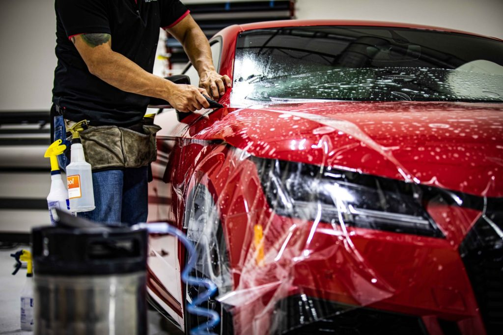 Audi TT RS Gets Window Tint, Paint Protection & Ceramic Paint Coating - Automotive Window Tint Services in San Antonio, Texas
