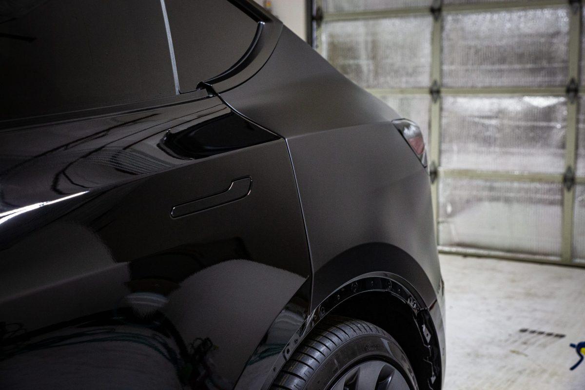 SunTek Ultra Matte Paint Protection Film Transforms Tesla Model Y - Paint Protection Film in San Antonio, Texas 2
