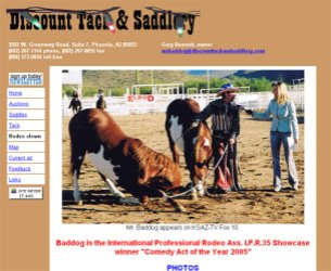 Discount Tack and Saddlery website