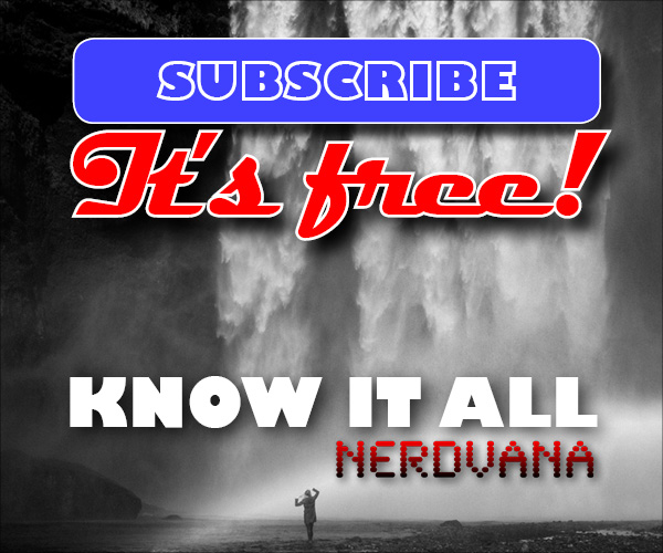 "Nerdvana ""Know It All"" email newsletter promo campaign"