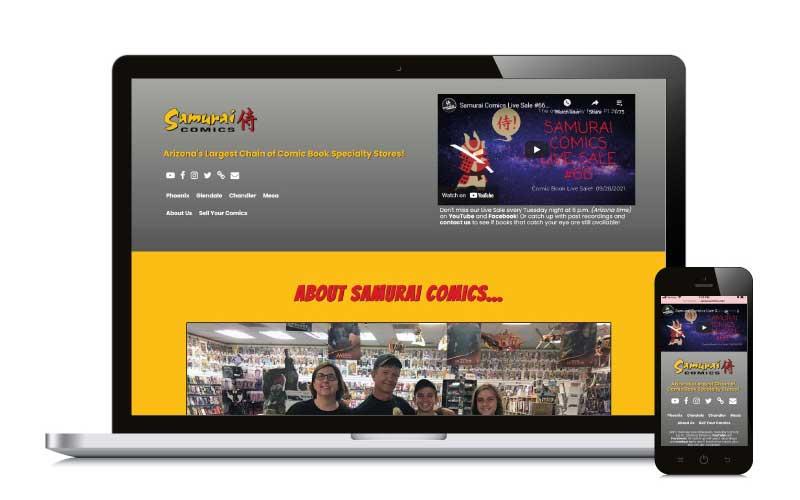 Samurai Comics web