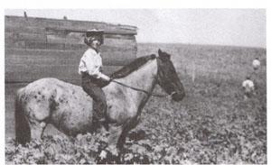 Sharon Weron aboard her horse