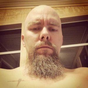 me beard shirtless