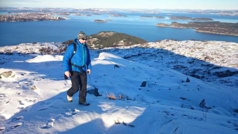 górujacy nad Stavanger szczyt Lifjell