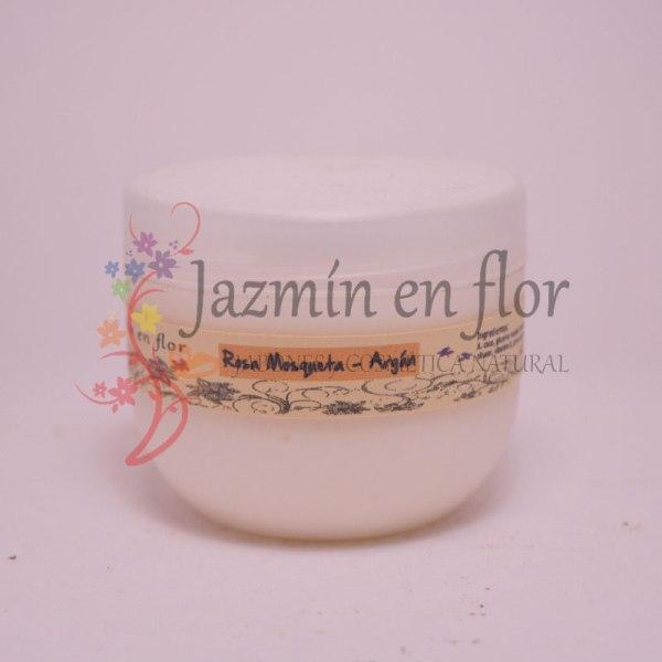 Crema natural facial rosa mosqueta y argán