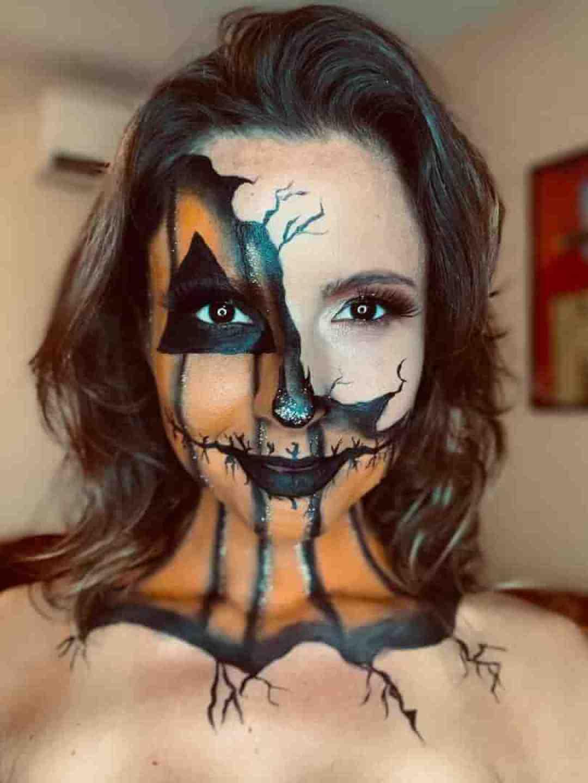 Halloween Pumpkin Makeup