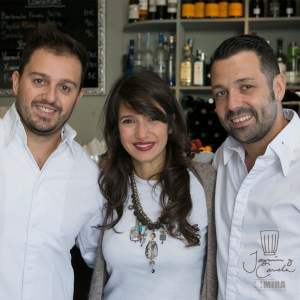 Ivan Morales, Álvaro Castellanos y Andrea Carucci