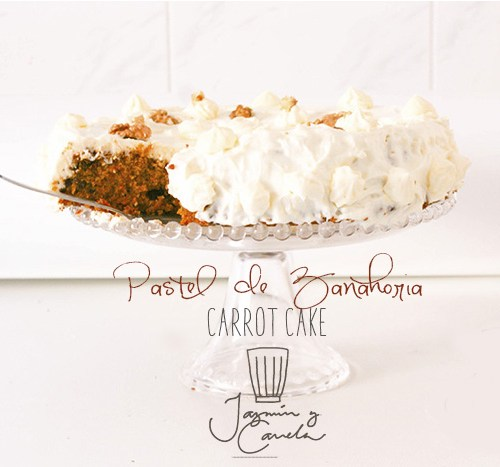 carrot cake, Pastel de zanahoria , con Frosting de queso, chees
