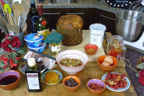 Cómo hacer panettone relleno de mascarpone con pistachos y chocolate 1