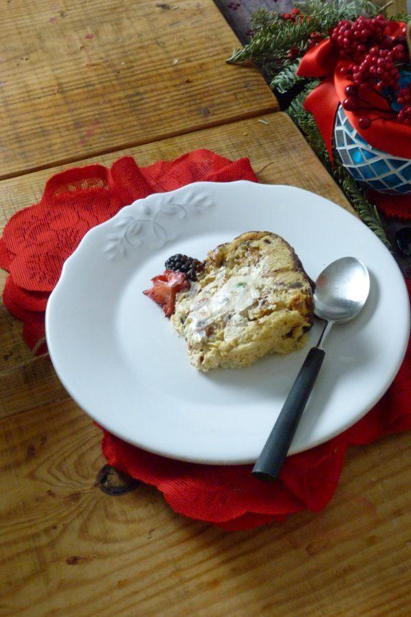 Cómo hacer panettone relleno de mascarpone con pistachos y chocolate 6