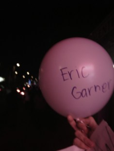 The balloon I was randomly handed. We would later release them freely into the sky. They represented police murder victims as well at the Ayotzinapa 43. Photo by Jason Nellis