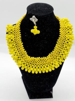 yellow necklace 3