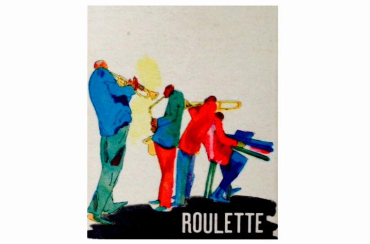 久留米のジャズ喫茶「ルーレット」のマッチ
