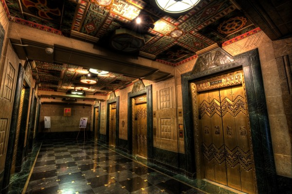 Art Deco Elevator Hallway City Hall Jazzersten' Hdr