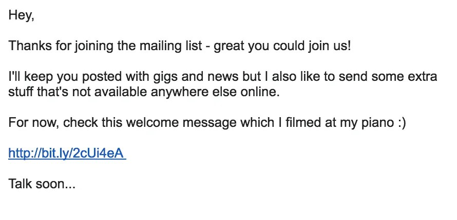 Mailing List Welcome