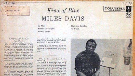 Kind of Blue, Miles Davis, Liner notes