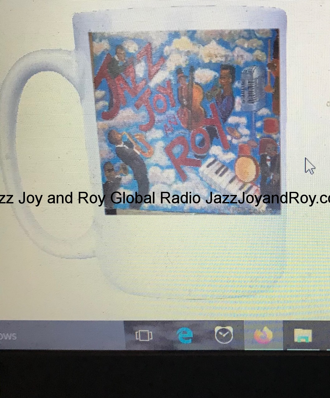 'Jazz Joy and Roy' Coffee Mug Featuring The Painting of the Same Name by Kathy, now only $29.99