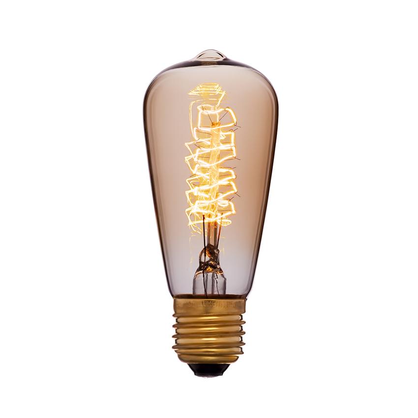 Грушевидная лампа Эдисона диаметром 4,8 сантиметра