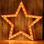 Звезда JazzLight с лампочками высотой 1м