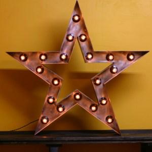 Звезда Jazzlight из металла с лампочками