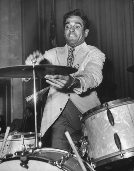 Gene Krupa, in the moment!