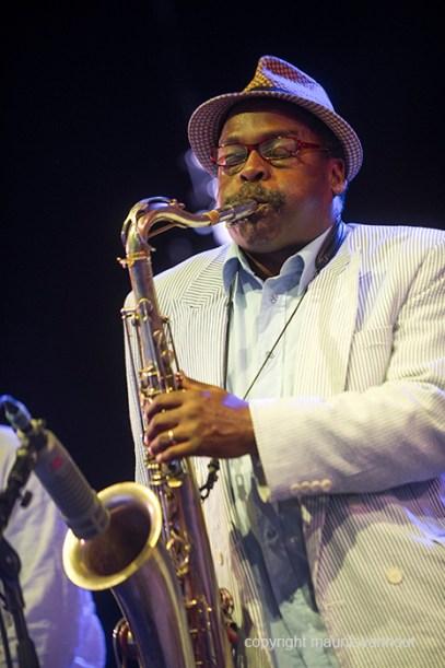 Antwerpen, 13 augustus 2016. tijdens het jaarlijkse Jazz Middelheim Festival treden de zoon van Ornette Coleman en een aantal andere artiesten op in een tribute. foto: Rene MClean