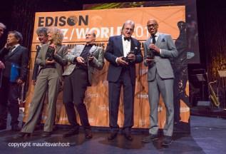 de winnaars van de jazz world Edisons 2017