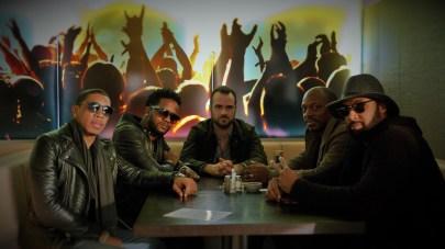 Benova skupina Sound Effect pred koncertom v Sono Centre