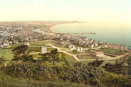 An old picture of Ramsey, Isle-of-Man, but as I remember..