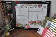 Reused Christmas Calendar: Broken Board made into Christmas Calendar.
