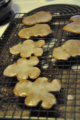 Marilyn's First time making Gingerbread Cookies.