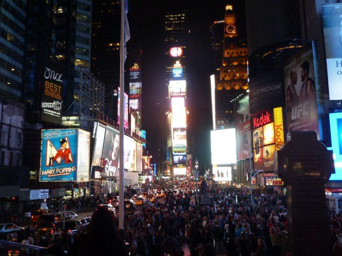 ニューヨーク・タイムズスクエア。2012年に訪れた際の一枚。