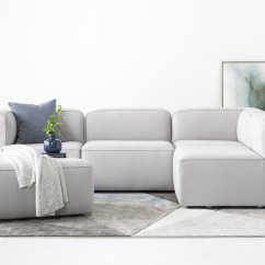 Almafi 2 Piece Leather Sofa Set And Love Seat Calvin Klein Custom Furniture Modern Home Decor Joybird