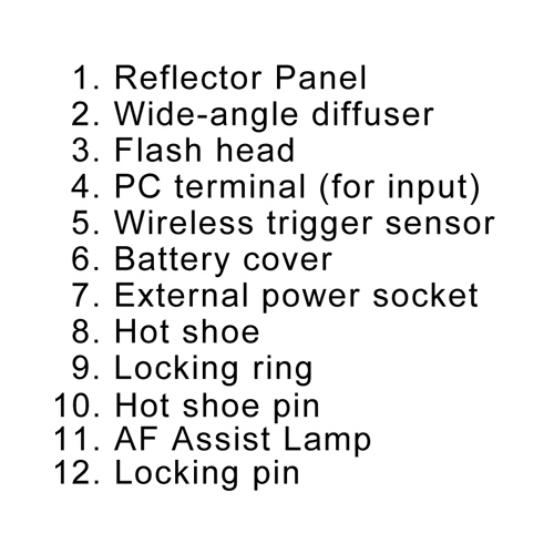 XIT XTDF260C Flash, 4AA 3100 Mah Battery, Home/Car Charger