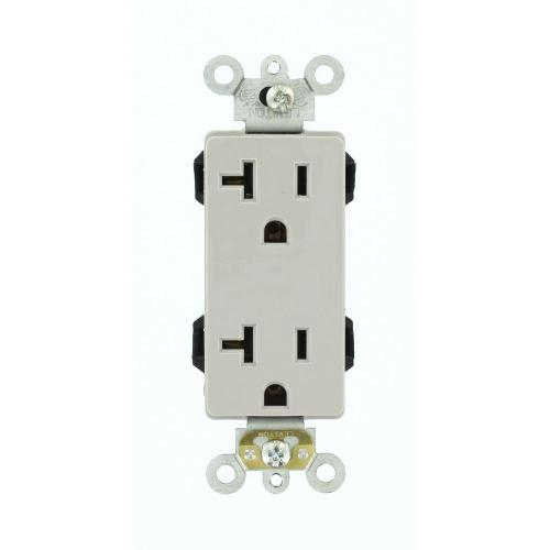 small resolution of details about leviton decora plus 20 amp lev lok modular device self grounding duplex outlet