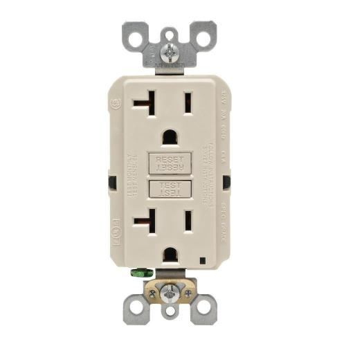 small resolution of details about leviton 20 amp self test smartlockpro slim duplex gfci outlet light almond