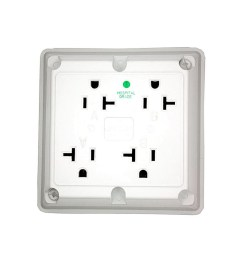 details about leviton 20 amp hospital grade extra heavy duty grounding 4 in 1 outlet white [ 1600 x 1600 Pixel ]