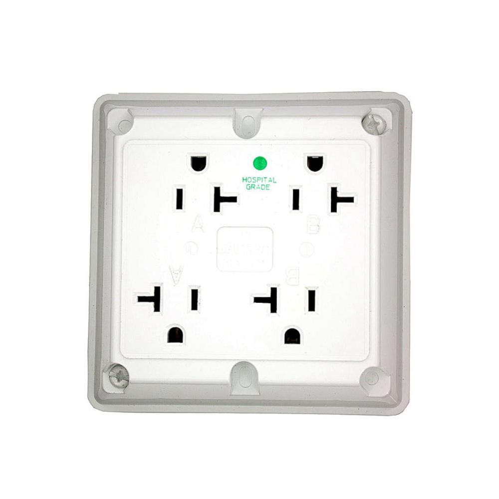 medium resolution of details about leviton 20 amp hospital grade extra heavy duty grounding 4 in 1 outlet white