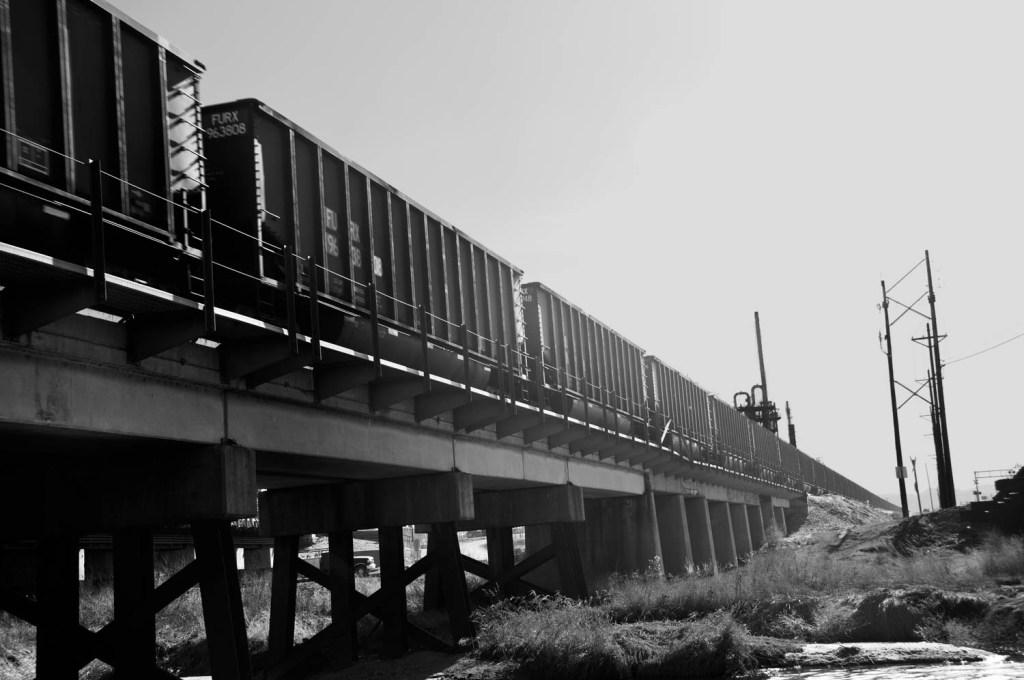 Urban Train on Trestle
