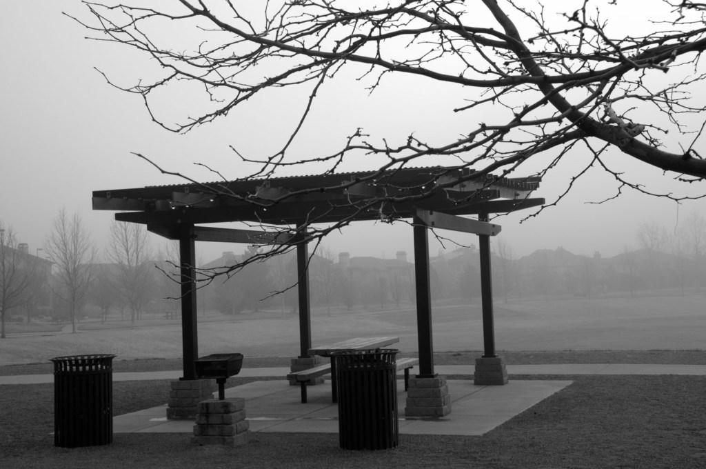Gazebo in Fog
