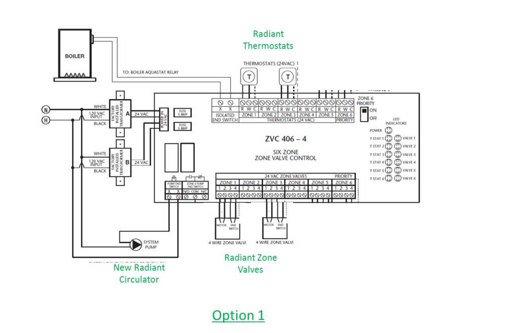 medium resolution of how to wire a system circulator to a taco zone valve control zvctaco 4 zone wiring